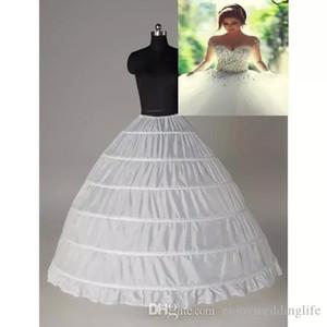 슈퍼 저렴한 공 가운 6 농구 페티코트 웨딩 슬립 신부 언더 레이어 레이어 슬립 6 후프 치마 Quinceanera 드레스