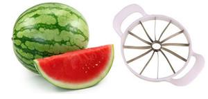 Melancia Cortador De Faca Cantaloupe Slicer Corer divisores De Aço Inoxidável Divisor De Frutas De Cozinha Bar De Jantar Pratical Gadgets Ferramentas
