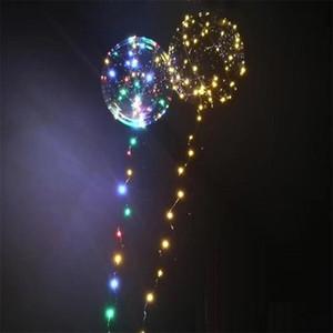 Regalo caliente Luminoso Led Transparente 3 Metros Globo Intermitente Decoraciones Del Banquete de Boda Suministros de Vacaciones Color Globos Luminosos Siempre Brillante