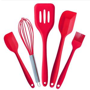 5 Stücke / a set Küchenutensilien Backen Gebäck Werkzeuge Kochen Set Silikon Küche Ei Braten Hohe Hitzebeständige Kits Kostenloser Versand