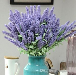 Artículos populares !! 12 Cabezas de espuma Provenza Lavanda boda suministros al por mayor Plantas artificiales flor decoración simulación flor