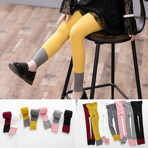 2-9T Girl Winter Candy Leggings Tights Solid Cotton Thick Warm Cotton Long Dress Trousers Children Baby Velvet Clothing HH7-39