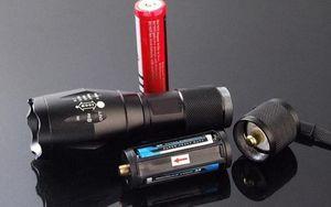 G700 E17 كري XML T6 2000 لومينز LED عالية الطاقة المشاعل زوومابلي LED مشاعل ضوء الشعلة ل 3 xAAA أو بطارية 1x18650