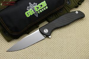 GRÜN THORN NEUE M390 F95 HATI Titan + CF Griff Flipper Klappmesser Outdoor Camping EDC Werkzeuge Jagd Wandern Taschenmesser