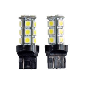 Lampadina 10 pezzi T20 LED Light Car 7440 7441 18 LED 5050 SMD di coda DC 12V Bianco 6000K DRL inverso del freno Luci universale LED Lamp