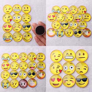 New Magnet Emoji Cupola di Vetro Rotondo Sorriso Faccia Espressioni Fridge Magnet Message Holder Frigorifero Sticker DHL Libero WX-C37