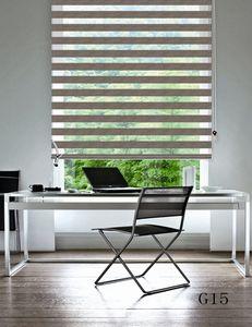 Custom Made Shade Translúcido Rolo Zebra Blinds em Bege Cortinas para Sala de estar 7 Cores Estão Disponíveis G15-001