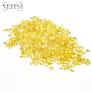 Neitsi 400pcs profesional Amber Fusion Keratin Hair Extension Glue Tip Beads