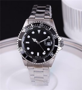 Relogio masculino 40 MM mens relógios moda Black Dial Com Calendário Bracklet Folding Fecho Mestre Masculino Mens Relógios