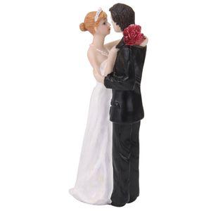 Romantic Wedding Cake Topper Decoration Resin Holding Bride Groom Figures