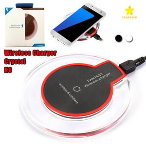 Hochwertiges Qi-WLAN-Ladegerät K9 Ladung für Samsung S6 Edge S7Ed S8 Plus iPhone8 x Fantasy High Efficiency Pad mit Einzelhandelspaket