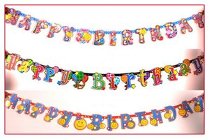 Paper Banner New Personalized Age Flashing Happy Birthday Banners 1st 60th Party Decorations Decorazioni Baby Shower Banner da sposa