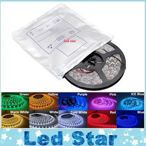 5M 5050 3528 5630 Led Strips Light Warm White Red Green Blue RGB Flessibile 5M Roll 300 Leds 12V nastro esterno impermeabile