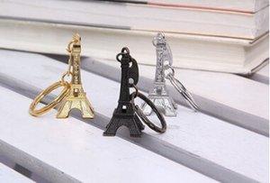 Zakka Vintage Torre Eiffel Llavero / Torre colgante llavero regalos Moda Ventas al por mayor Envío gratis Oro Astilla Bronce