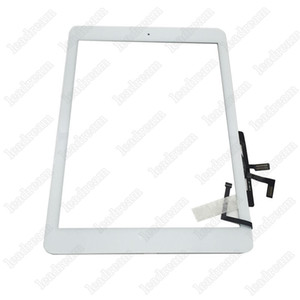 10PCS Touch Screen Glass Panel Digitizer with Buttons Adhesive Assembly for iPad Air Black and White