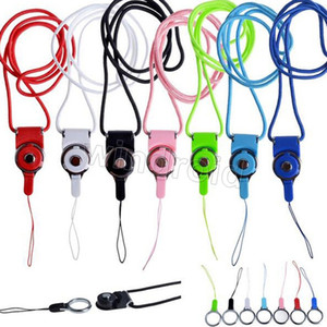 Alça de Pescoço Rotatable Destacável Anel Corda pendurado Charme Encantos Para Telefone Celular MP3 MP4 Flash Drives Cartões de IDENTIFICAÇÃO Celular telefone Colorido 100 pcs