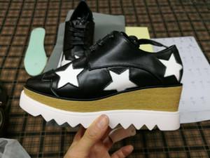 Stella Shoes McCartney Damen Freizeitschuhe Mit Sternen Echtes Leder Keile Volle Originalverpackung