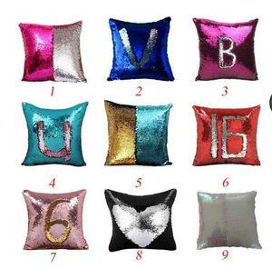 BeddingOutlet Mermaid Sequin Cushion Cover Magical Shining Pillow Case Patchwork Decorative Pillowcase Sofa Car Fashion 40X40cm TO292