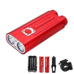 المصباح دراجة الألومنيوم 7Modes الدراجة الخفيفة 2X كري Xm -L T 6Headlight Bicycle Accessories + 2X Rechargeable