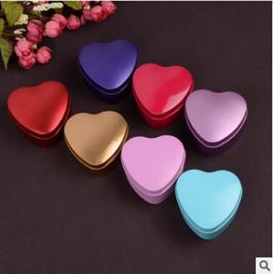 Caja de dulces de boda de hojalata Caja de dulces de boda en forma de corazón Caja de dulces de boda multicolor