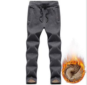 Популярные теплые зимние берберский флис Мужские брюки тренировки йога фитнес упражнения тренировочные брюки плюс размер 4XL / 5xl хлопок прямые повседневные брюки