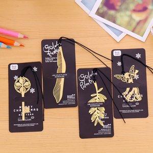 Segnalibri creativi dei segnalibri della cavità del metallo di angelo di chiave della foglia del segnalibro dell'oro di favore di nozze i regali creativi DHL libera il trasporto
