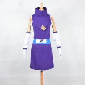 Cartoon Character Costumes New Shippuden Naruto Cosplay Ino Yamanaka Cosplay Costume Japanese anime Purple Dress