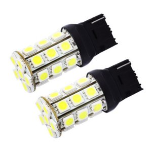 10 pcs T20 W21W 7440 27 SMD 5050 LED Auto flash strobe Vermelho cauda luz 27smd branco luzes de estacionamento de carro lâmpada de cauda lâmpada traseira 12 v