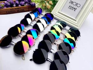 Moda rodada óculos de sol do quadro, retro óculos de sol circulares, rodada espelho plano, óculos de alta qualidade por atacado free shopping