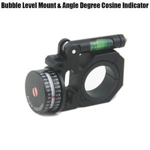 العالمي 25 ملليمتر / 30 ملليمتر نطاق خواتم flippable فقاعة مستوى جبل وزاوية درجة جيب التمام مؤشر ل بندقية نطاق البصري البصر الأسود