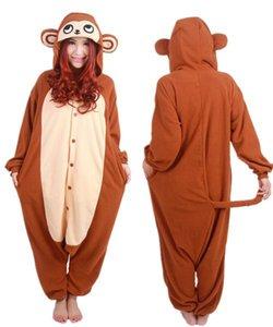 SS 신착 성인 유니섹스 원숭이 점프 수트 Animal Onesie Cosplay Pajamas 잠옷 파자마 의상