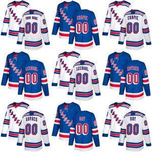 2017 Nova Marca Mens New York Rangers Adam Chapie Dawson Leedahl Robin Kovacs Sean Dia Costurado Azul Branco Hóquei No Gelo Jerseys Aceitar Personalizado