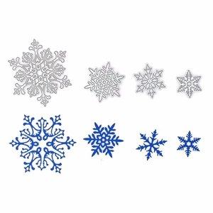 4 pezzi di metallo Die Snowflake Die Die Die in Scrapbooking Cartella goffratura Suit per Sizzix Fustella Macchina da taglio Big Shot