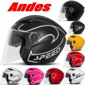 2016 novas estações de verão Andes B-639 dupla lentes meia face capacete da motocicleta bicicleta elétrica capacetes feitos de ABS e TAMANHO LIVRE