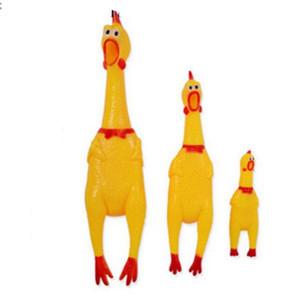 41cm Divertente Vent Long Neck Pollo Medium Shrilling Chicken Sound Spremere Giocattoli di grido Giocattoli per bambini