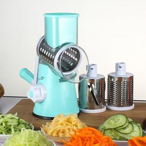 Slicer rond Mandoline Slicer Cutter de légumes manuelle Pommes de terre Julienne Carotte Slicer Ratese en acier inoxydable Toot de cuisine