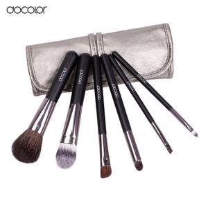 Docolor Makyaj Fırçalar 6 adet Keçi Saç Profesyonel Makyaj Fırça Seti Göz Gölgeler Eyeliner Burun Leke Kozmetik Makyaj Fırçalar