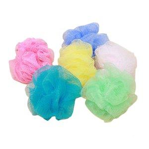 Pequeño 25pcs / lot Bola de baño Tinas de baño Depurador Limpieza corporal Malla Ducha Lavado Esponja