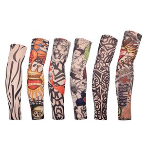 Tattoo sleeves Sun UV Protection Armwarmer Stocking Stretchable Sleeves For Outdoor Sports Cycling Running Golf Baseball Set Of 6