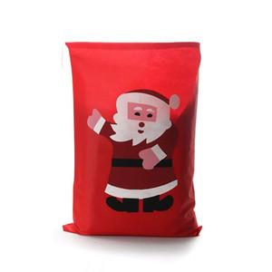 Sacchetto regalo con tasca a fasci 49 * 69cm Natale 2017 decorazioni natalizie rosse per regalo di calze regalo di Babbo Natale