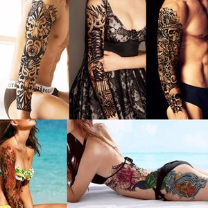 Water Flash Sleeve Manga Tattoos Temporary Makeup Henna Tattoo Tatoos Body Arts