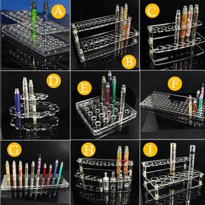Espositori acrilici Stand per Ecig Store Ego T Batterie Atomizzatori Serbatoi EVOD E Sigarette Kit Vape Mods Holder Scaffale Rack rimovibili