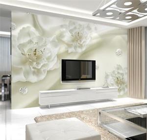 3D papel de parede foto mural de parede papel de parede de flor branca rolos casa decorativa tamanho grande paisagem wallcovering adesivos