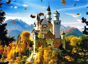 5D FAI DA TE Mosaico Pittura Diamante Punto Croce kit scenario mountain castello pieno di Resina Diamanti rotondi Ricamo cucito Decorazioni Per La Casa yx0736