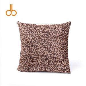 Flannelette Leopardo Funda de almohada Espacios al por mayor Cheetah Home Decorativo Almohada Cuadrada Wrap One Seat Funda de Almohada Envío GratisDOM106754