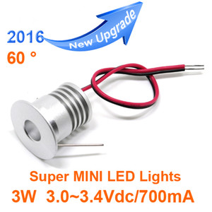 12pcs / lot Mini led downlight 3W cabinet lamp 100D отверстие 23mm входной ток 3-3.4 в / 300-350ма