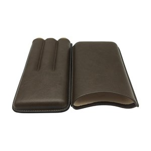 New arrival COHIBA leather travel cigar case holder 3 tube humidor mini with bag gift box