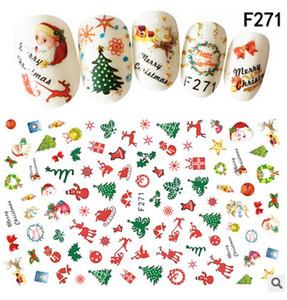NEW ARRIVAL 100PCS NAIL STICKERS 사랑 스럽다 소녀의 미소녀로 그린 화이트 그린 색상이 크리스마스 스티커 무료 배송