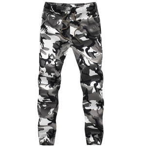 Pantalones de camuflaje para hombre al por mayor-moda Pantalones holgados Pantalones de chándal sueltos Pantalones de carga ocasional Camo Joggers Plus Size # A4984