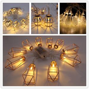 LED Iron Art Light string Diamond shape Night light Halloween Christmas Decoration лампа строка с батарейным отсеком теплый белый